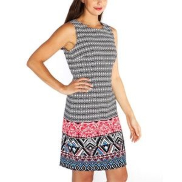 Mario Serrani Dresses & Skirts - Mario Serrani Colorful Sleeveless Sheath Dress NWT